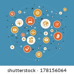 abstract global computer... | Shutterstock .eps vector #178156064