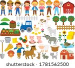 farm life clipart set. big... | Shutterstock .eps vector #1781562500