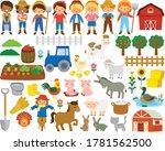 Farm Life Clipart Set. Big...