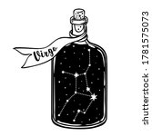 glass bottle with zodiac... | Shutterstock .eps vector #1781575073