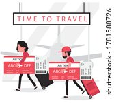 time to travel concept feature... | Shutterstock .eps vector #1781588726