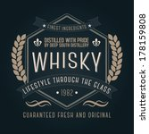 hand crafted whisky lettering... | Shutterstock .eps vector #178159808