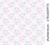 floral repeat pattern design ... | Shutterstock .eps vector #1781605973