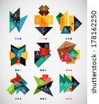 geometrical shaped infographic... | Shutterstock .eps vector #178162250