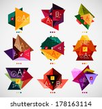 collection of modern business... | Shutterstock .eps vector #178163114