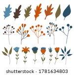 big fall autumn bundle. set of... | Shutterstock .eps vector #1781634803