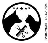 the logo of the hairdresser for ... | Shutterstock .eps vector #1781643926