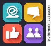 modern flat icons for web and... | Shutterstock .eps vector #178166864