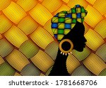 portrait beautiful african... | Shutterstock .eps vector #1781668706