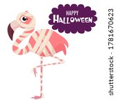 happy halloween. cartoon... | Shutterstock .eps vector #1781670623