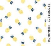 seamless pineapple pattern... | Shutterstock .eps vector #1781683256