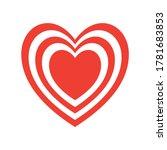 hearts inside heart flat style... | Shutterstock .eps vector #1781683853