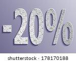 twenty percent discount banner | Shutterstock .eps vector #178170188