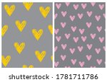 cute abstract hearts seamless... | Shutterstock .eps vector #1781711786
