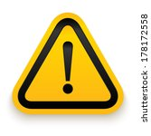 attention sign. vector... | Shutterstock .eps vector #178172558