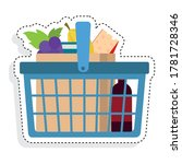 sticker of a grocery shopping... | Shutterstock .eps vector #1781728346