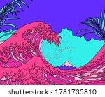 Great Wave In Vaporwave Pop Ar...