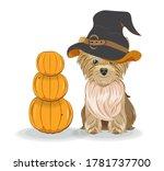 lovely vector puppy  dog in... | Shutterstock .eps vector #1781737700