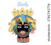 Sicilian Planter Moor Head....