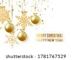 golden christmas balls... | Shutterstock .eps vector #1781767529