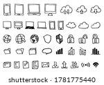 handwritten icons set  ... | Shutterstock . vector #1781775440