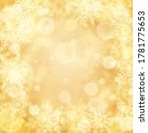 christmas background of blurry...   Shutterstock .eps vector #1781775653
