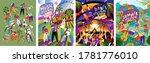 musical summer dance festival.... | Shutterstock .eps vector #1781776010