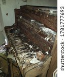 Small photo of abandoned farm in norfolk , old piano found in an abandoned farm house in norfolk