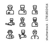 surgeon icon or logo isolated...   Shutterstock .eps vector #1781802416