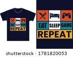 game slogan good for tee print. ... | Shutterstock .eps vector #1781820053