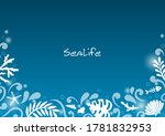 abstract marine life with line... | Shutterstock .eps vector #1781832953