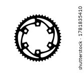 simple flat monochrome bicycle...   Shutterstock .eps vector #1781835410