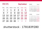september page. 12 months... | Shutterstock .eps vector #1781839280