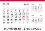 march page. 12 months premium... | Shutterstock .eps vector #1781839289