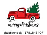 Merry Christmas  With Red Truck ...