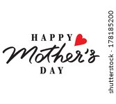 happy mothers day hand... | Shutterstock .eps vector #178185200