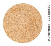 cork table coaster isolated on... | Shutterstock . vector #178185680