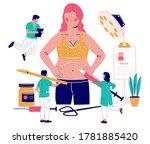 tummy tuck  liposuction of...   Shutterstock .eps vector #1781885420