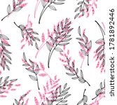 fabric design repeated floral... | Shutterstock .eps vector #1781892446