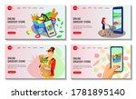 set of website design for...   Shutterstock .eps vector #1781895140