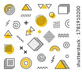 geometric background with... | Shutterstock .eps vector #1781910200