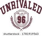 unr valed slogan college crest... | Shutterstock .eps vector #1781919563