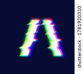 realistic glitch font character ... | Shutterstock .eps vector #1781920310