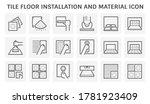 tile floor installation  tile... | Shutterstock .eps vector #1781923409