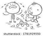 kids behavior  conflict  one... | Shutterstock .eps vector #1781929550