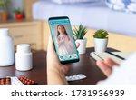 deaf mute patient use video... | Shutterstock . vector #1781936939