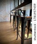 Row Of A Tall Standing Chair A...