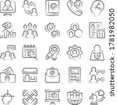 conceptual doodle line icons... | Shutterstock .eps vector #1781982050