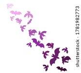 flock of purple bats in flat... | Shutterstock .eps vector #1781982773