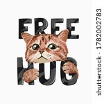 Cute Cat Hugging Free Hug...